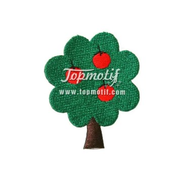 Apple Tree Patch Designs Embroidery Iron On Patches Wholesale