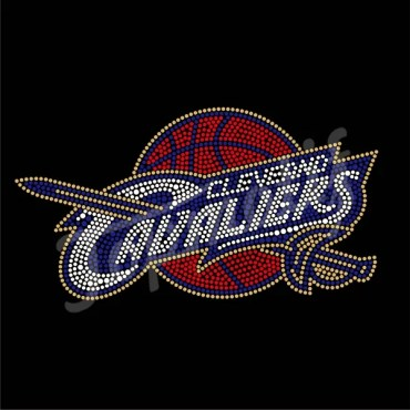 New Sport Team Design Cavaliers Hot Fix Rhinestone Design For Cleveland