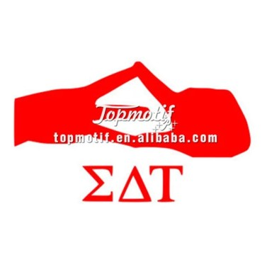 Newest iron on transfer stickers sorority heat transfer sticker