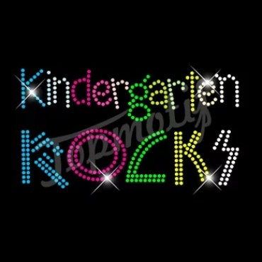 Kindergarten Rocks Rhinestone Heat Transfer Design Iron On Transfers Wholesale