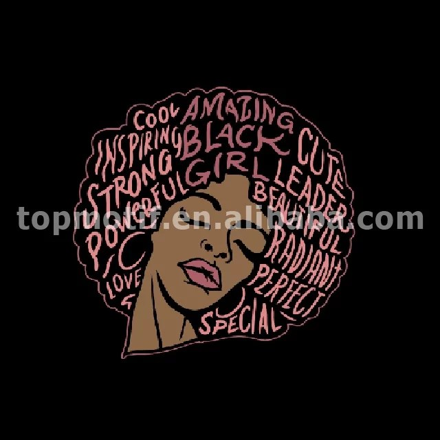 Amazing Black Woman Heat Transfer Printing Vinyl For Clothing