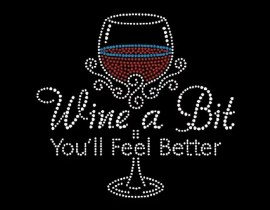rhinestone decals wine glasses iron on transfers