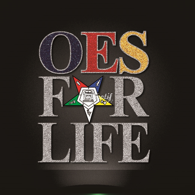 New design OES for life iron on glitter motif for t-shirt
