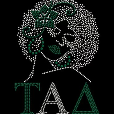 Sparkling rhinestone Tad afro lady t shirt or tote bag
