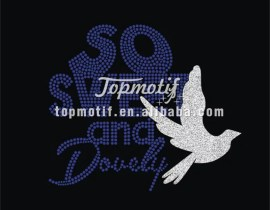 Custom Zeta Phi Beta Rhinestone Transfer With Glitter Dove