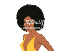Afro Girl hotfix for clothing transfer printer paper