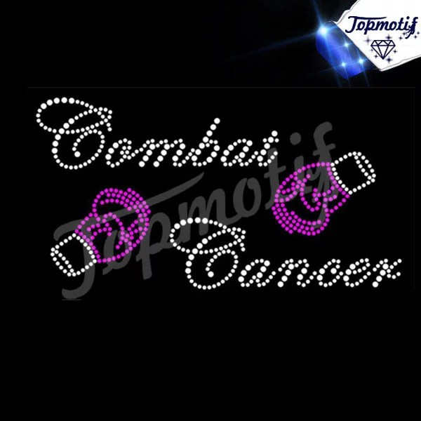 Combat Cancer with boxing Gloves for Rhinestone transfers wholesale