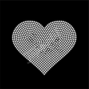 Heart Rhinestone Transfer Pattern Design Crystal Rhinestone Motif For Dresses