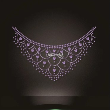 Crystal Rhinestone Necklace Transfer Hotfix Motif Design Wholesale
