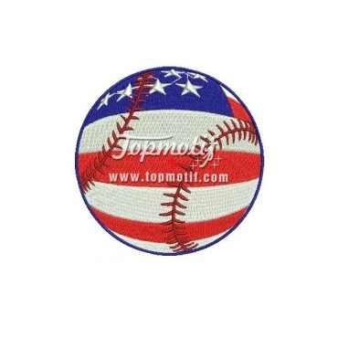 Embroidery Design USA Baseball High Quality Embroidery Patch