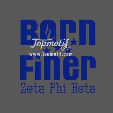 Born Finer Zeta Heat Vinyl Rhinestone Iron On Transfer Design