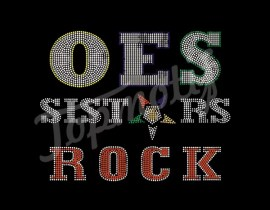 Symbol OES Sisters Star Bling Iron-On Transfer Rhinestone Wholesale For T-Shirt