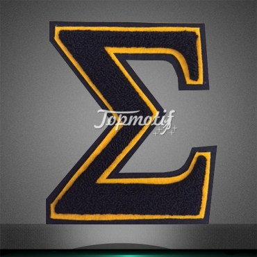 Trade assurance greek letter sigma chenille patches