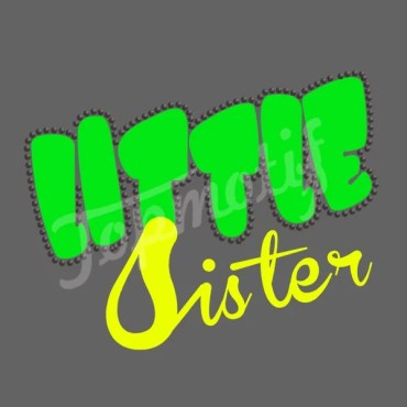 Little sister heat transfer vinyl for babi dresses