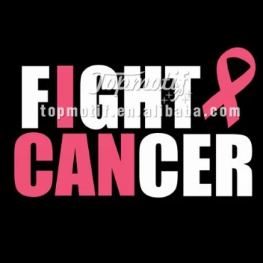 custom t-shirts Fight Cancer Breast Cancer Awareness Pink Ribbon Iron On Vinyl
