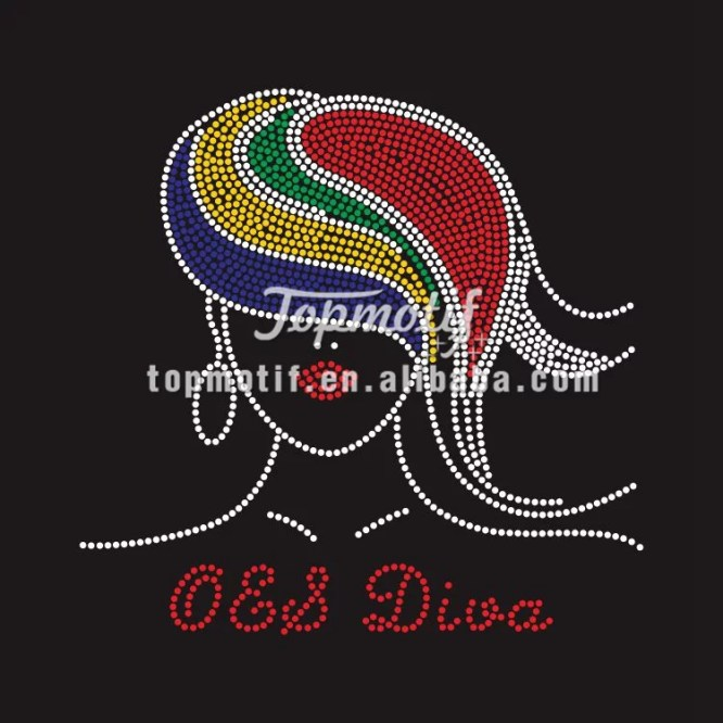 Custom OES DIVA Rhineston Heat Transfer Design