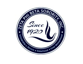 Zeta Phi Beta Embroidery patch heat Transfer