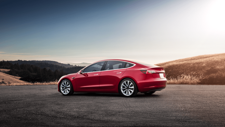 Model 3 - Red Rear Sunset