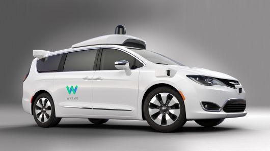 Waymo FCA Fully Self-Driving Chrysler Pacifica Hybrid