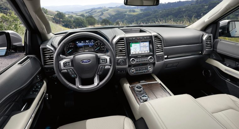 The all-new Ford Expedition offers more than 40 new features and driver-assist technologies, including a Wi-Fi hotspot that supports as many as 10 devices at once, SYNC® 3, and power for passengers in every row, with four 12-volt power points, six USB chargers and a 110-volt power outlet.