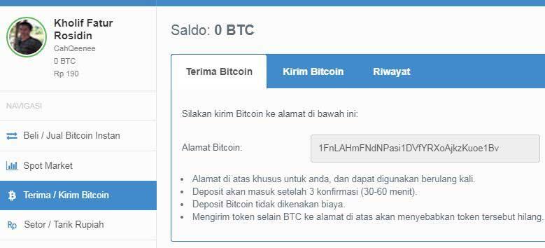 cara transfer bitcoin ke rupiah