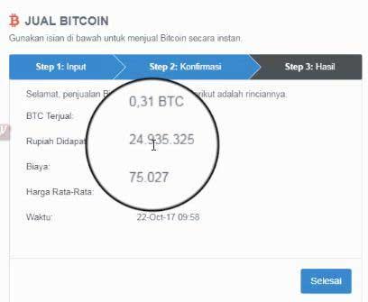cara cairkan bitcoin ke rekening bank
