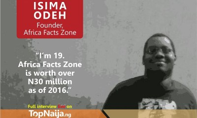 How I created Africa Facts Zone - Isima Odeh reveals on TopNaija Stories