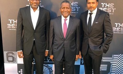 Cecil Hammond spotted with Femi Otedola, Aliko Dangote at FIFA's The Best Award Ceremony