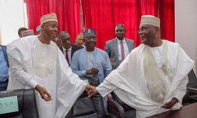 Elections2019: Saraki declares unreserved support for Atiku