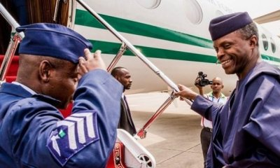 Yemi Osinbajo leaves Nigeris for US, to meet Mike Pence