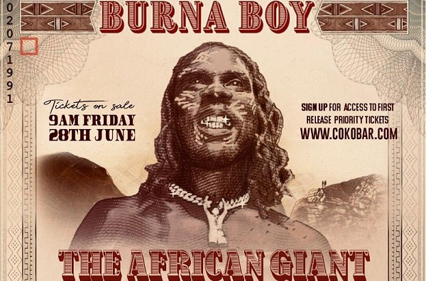 Burna Boy Reveals Dates For The African Giant Returns Tour