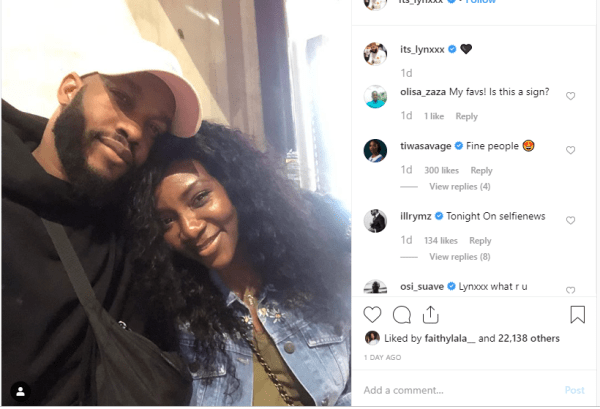 Lynxx and Geneieve Nnaji loved up