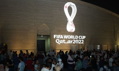 Qatar reveals 2022 FIFA World Cup logo round the globe