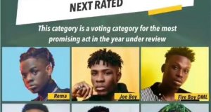 The Headies Next Rated category