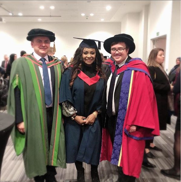 Former actress, Victoria Inyama bags a degree in the UK