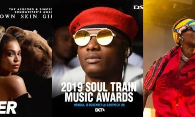 Wizkid BET soul Train awards 2019
