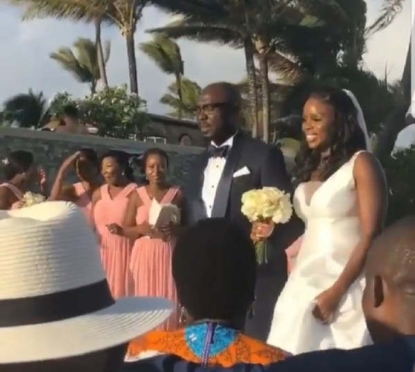See photos from Governor Rotimi Akeredolu's daughter's wedding in Mauritius