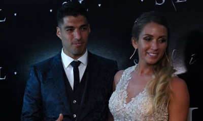 Barcelona player, Luis Suarez renews vows with wife after 10 years