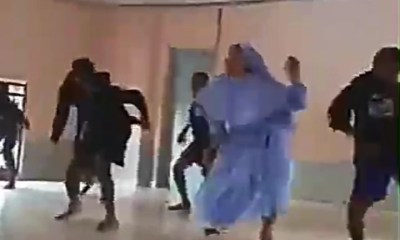 Reverend Sister bursts moves as she dances with students [VIDEO]