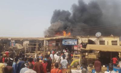 Fire guts Jabi motor park in Abuja, shops burnt down