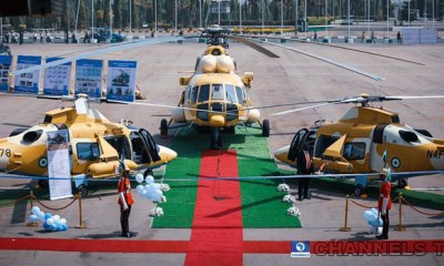 President Buhari launches three new combat helicopters in Abuja