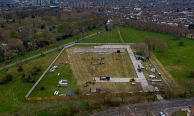 UK begins building massive mortuary in preparation for multiplied Coronavirus death rate [PHOTOS]