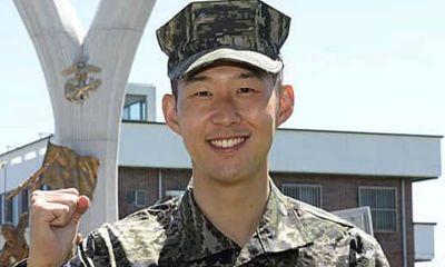 Tottenham striker, Son completes military training in South Korea