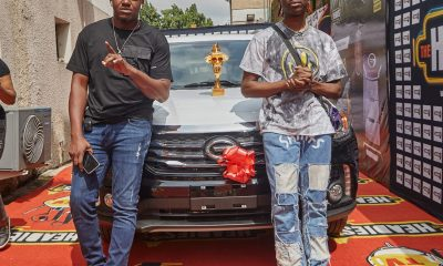 Rema receives his car gift for Headies Next Rated Category win