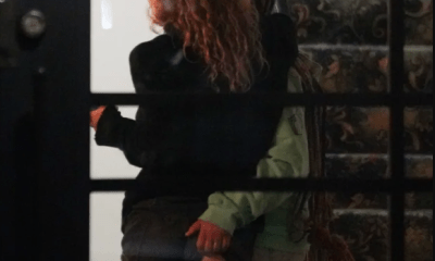Raven Symone pictured touching her wife's naked butt