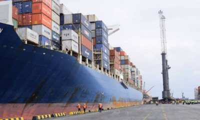 Largest container ship ever to come to Nigeria arrives Onne [PHOTOS] topnaija.ng