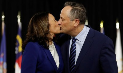 Kamala Harris kiss husband