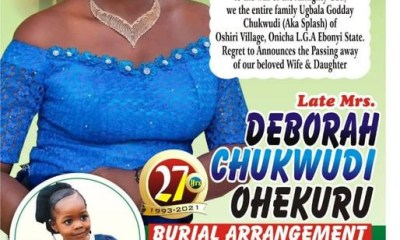 Nigerian man mourns his wife and 2-year-old daughter killed in motor accident-TopNaija.ng