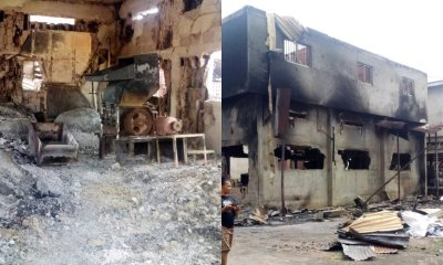 Late night fire razed multi-million Naira motorcycle spare parts factory in Nnewi-TopNaija.ng