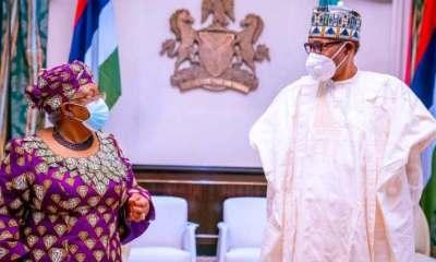 Buhari receives Okonjo-Iweala in Aso Villa [PHOTOS]